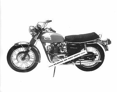 ORIGINAL 1973 TRIUMPH MOTORCYCLE FACTORY PRESS PHOTO DAYTONA 500 T100R CLASSIC