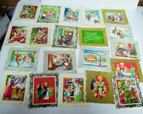 Rare 20 Vintage Christmas Cards Unused - GAY 90