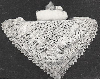 Two Vintage Shetland Lacy Baby Shawl Patterns ~ 2 ply~  ~ Knitting Pattern