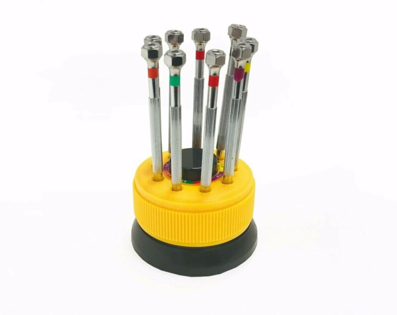 QUALITY JEWELRY SCREWDRIVER SET w/ ROTATING STAND -JEWEL TOOL