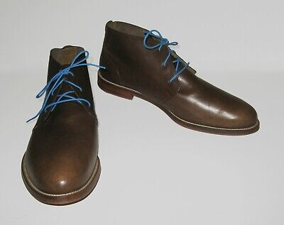J SHOES MEN'S MONARCH MID-BROWN LEATHER CHUKKA BOOT SZ: 13