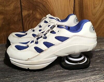 Z COIL FREEDOM PAIN RELIEF ORTHOPEDIC COMFORT SHOES BLUE WHITE WOMENS 9