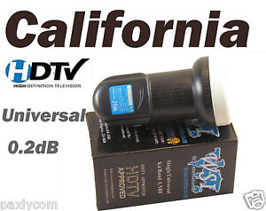 FTA Universal Single Ku Band LNBF 0.2dB FTA Satellite Dish LNB HDTV Liner