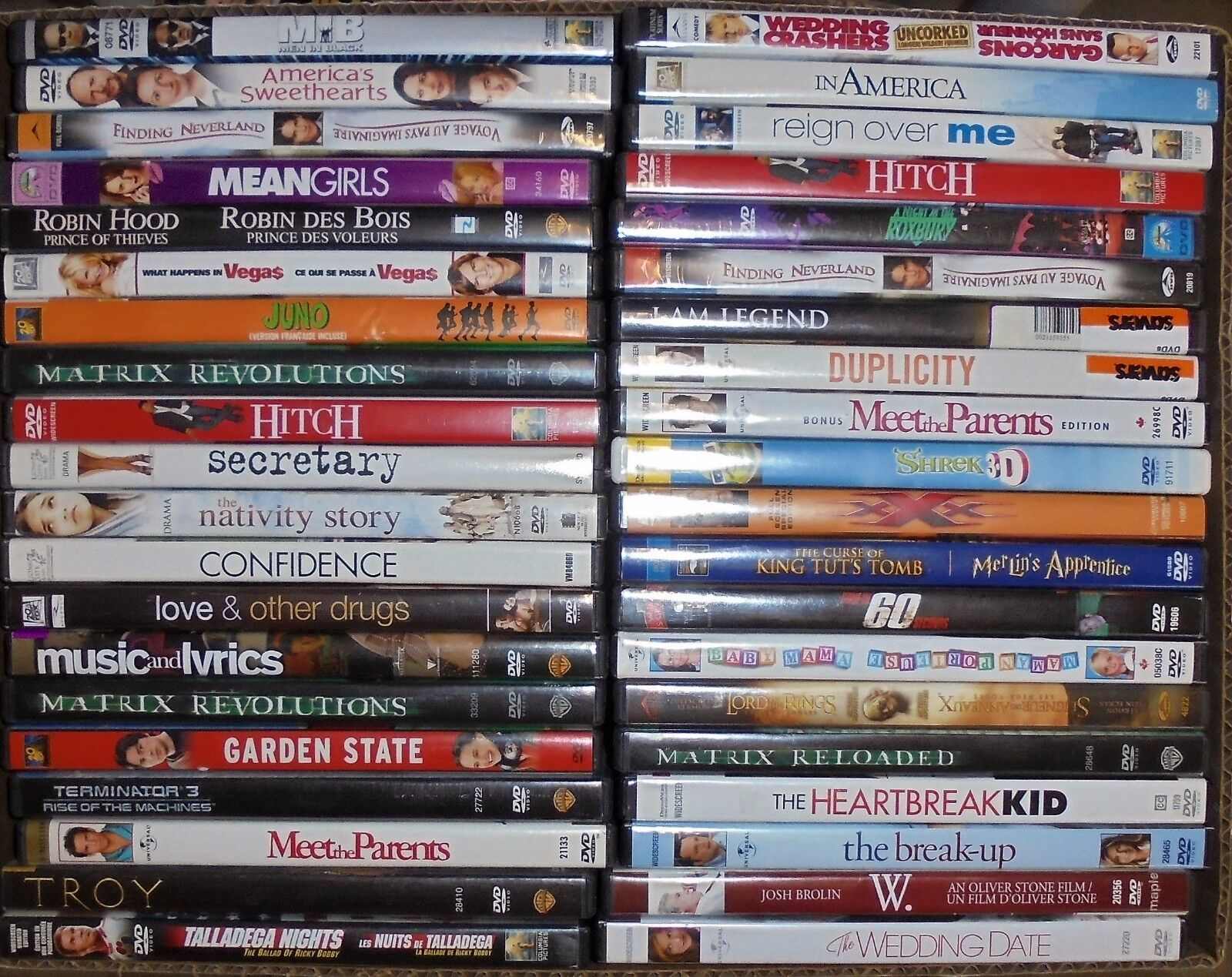 Wholesale lot of 100 DVD's: Drama Action Comedy Movies
