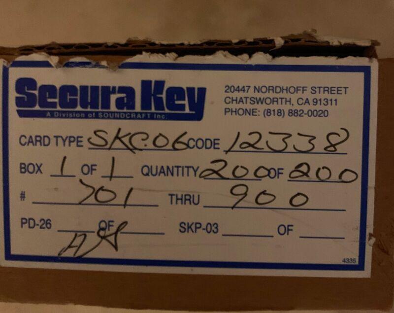 Lot of 126 Secura Key SKC-06 SecuraKey Cards