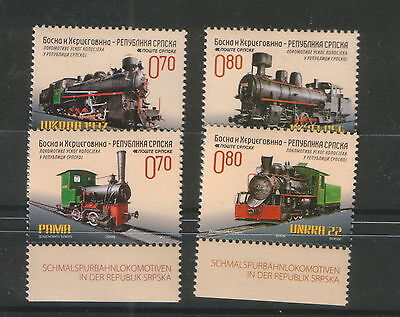 BOSNIA-SERBIA -MNH SET-Narrow gauge locomotives- 2009., used for sale  Shipping to Canada
