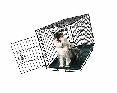 NOB Carlson Pet Products SECURE AND FOLDABLE Single Door Metal Dog Crate Medium