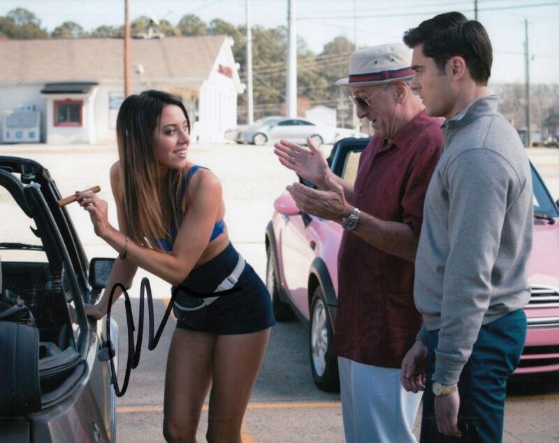 AUBREY PLAZA signed (DIRTY GRANDPA) movie 8X10 photo *LENORE* W/COA #2