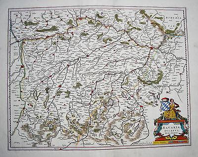 Bayern München Freising Passau Salzburg Kupferstich Landkarte Mercator 1640