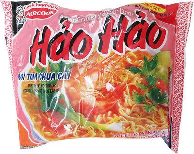 Acecook Hao Hao Hot Sour Shrimp Flavor Insant Noodles Mi Tom Chua -