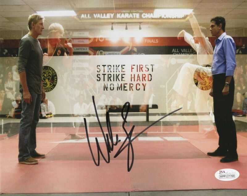 William Zabka Autograph 8x10 Cobra Kai Photo Karate Kid JSA COA