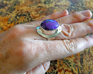 Sz 8 US Turquoise Ring, Genuine Purple Mojave, 925 Silver, NEW South Brisbane Brisbane South West Preview