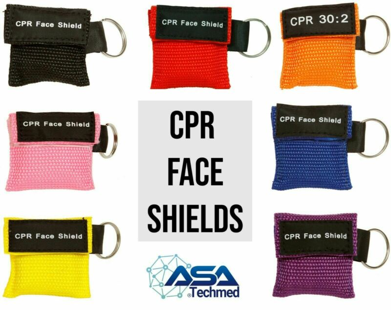 40pc Cpr Mask Keychain Emergency Kit Cpr Face Shields For First Aid Aed Training