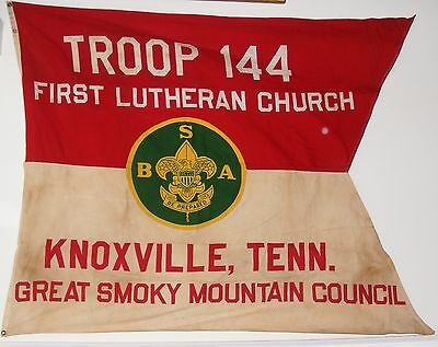 Vintage Troop 144 Boy Scout Flag Knoxville TN Great Smoky Mountain Council 1960s