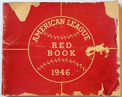 1946 American League Red Book Stats Ballparks Rosters Awards Baseball
