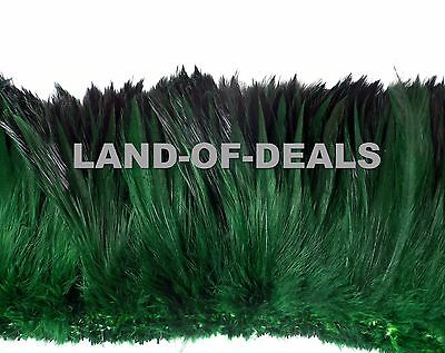 Rooster feathers Dark green / moss green, wholesale bulk feathers, 4-5 in long - Bulk Feathers