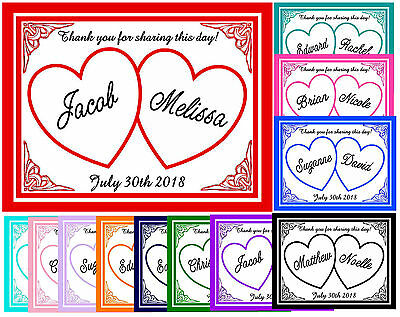 HEARTS WEDDING FAVORS MAGNETS ~ YOUR CHOICE OF -