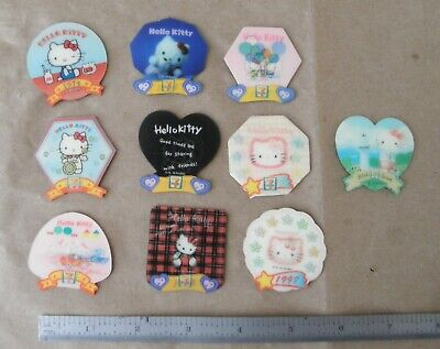 Lot of 10 Vintage Sanrio Hello Kitty 30th Anniversary 7-11 Collectors Magnets