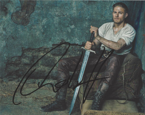 CHARLIE HUNNAM SIGNED 'SONS OF ANARCHY' JAX 8x10 SHOW PHOTO E w/COA ACTOR PROOF