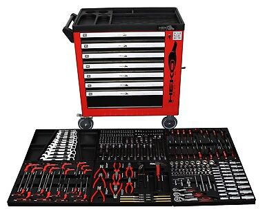 XXL Werkstattwagen gefüllt Werkzeug Werkzeugwagen Werkzeugkiste Werkzeugkasten