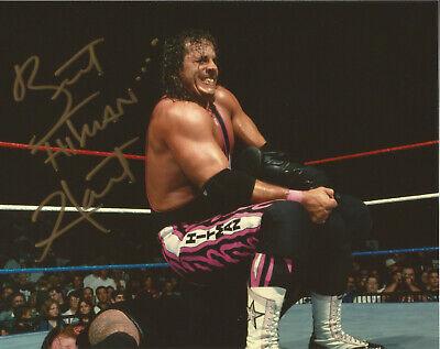 BRET HART hitman WWE WWF WCW signed 8x10 Photo autograph COA FREEship ring