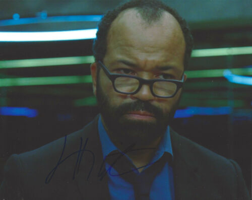 ACTOR JEFFREY WRIGHT SIGNED AUTHENTIC 'WESTWORLD' 8X10 PHOTO COA CASINO ROYALE