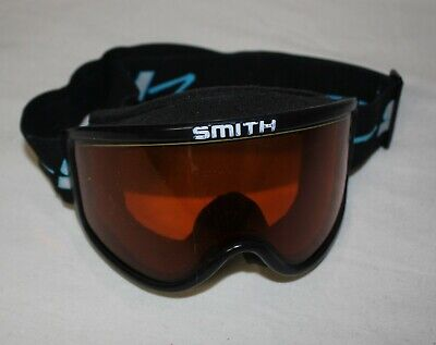 SMITH Adult Goggles Amber Lens Black Strap Snow Ski Snowboarding (Amber Lens Goggles)