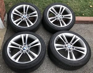 "(4) OEM BMW 3 & 4 SERIES 18"" RIMS+ 95% RUN FLAT ALL SEASONS"
