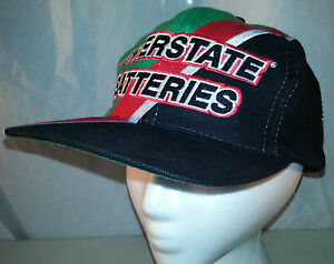 Bobby-Labonte-Interstate-Batteries-NASCAR-18-Embroidered-Snapback-Hat-EUC
