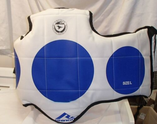 Rhingo Tae Kwon Do Martial Arts Sparring Chest Pad Protective Gear Guard Size L