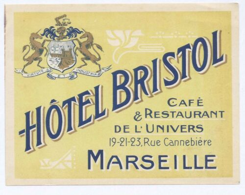 Hotel Bristol Marseille Cafe & Restaurant de L