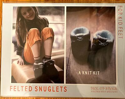 Knitting Kits For Kids (FELTED SNUGLETS - For Kid Feet - A Knit Kit - So)
