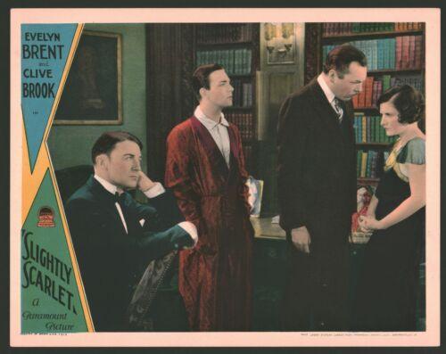 SLIGHTLY SCARLET Lobby Card (VeryFine) 1930 Clive Brook Movie Poster Art 1005