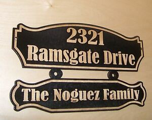 Personalized STREET HOUSE ADDRESS NUMBER WOOD SIGN.BIRCH.Laser ENGRAVED.GIFT.