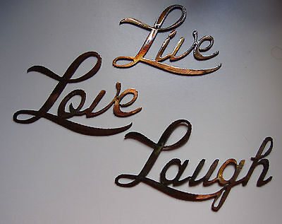 Live Love Laugh Small Version Words Metal Wall Art Accents