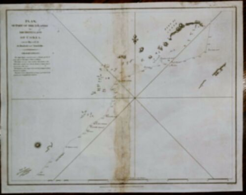 Perouse Map - THE ISLANDS OF ARHIPELIGO OF COREA -  Copper Engraving - 1798