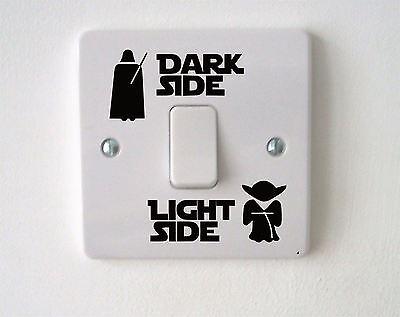 Star Wars Dark Light Side Switch Vinyl Decal Sticker Child Room Lightswitch Wall