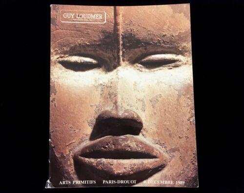 GUY LOUDMER PRIMITIVE ART AUCTION PARIS DROUOT 1989 RAROTONGA CLUB AFRICAN MASKS