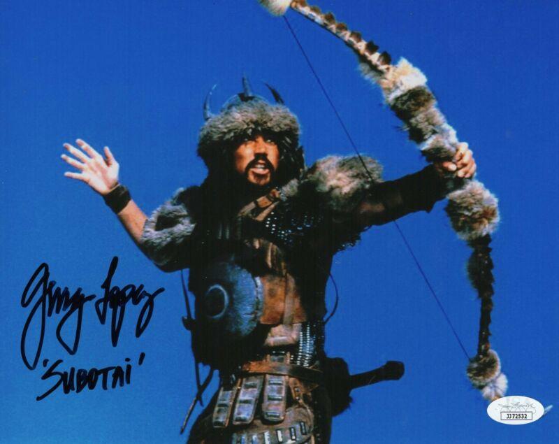 Gerry Lopez Autograph 8x10 Photo Subotai Conan the Barbarian Signed JSA COA