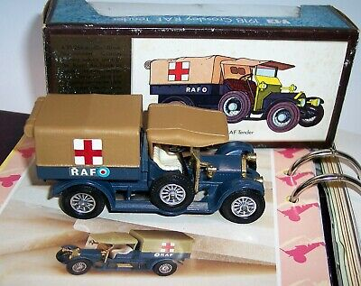 MATCHBOX YESTERYEAR Y-13 CROSSLEY RAF TENDER 12 SPOKE CHROME WHEELS ISSUE 8 MIB