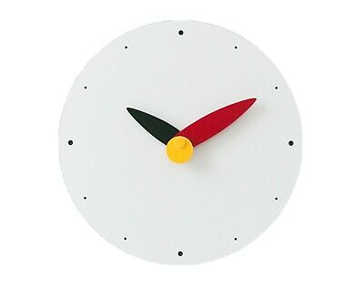 Moro Design Spread the Wings Wall Clock non Ticking Silent Modern Clock (Red)