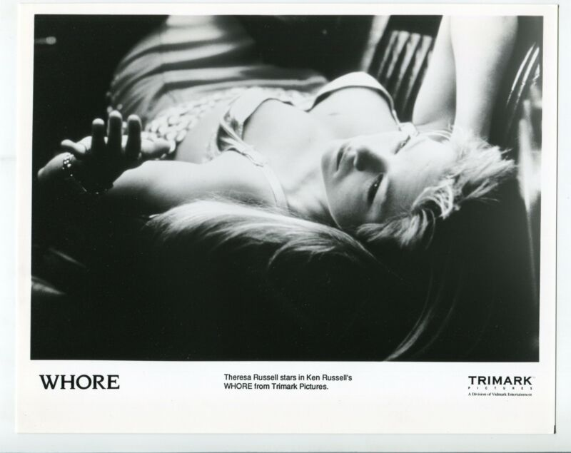 Whore-Theresa Russell-8x10-Promo-B&W-Still-NM