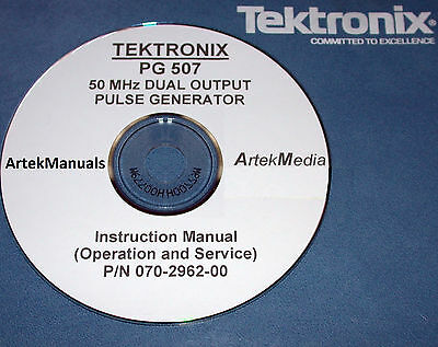 Tektronix Pg507 Pulse Generator Instruction Service Ops  Manual
