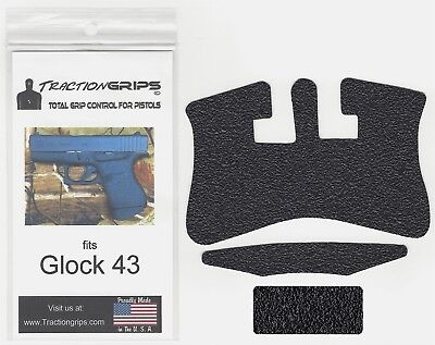 Tractiongrips textured rubber grip overlay decal for Glock 43 / Traction Grips