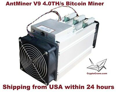 Brand New In-Hand Bitmain AntMiner V9 4TH Bitcoin Miner Shipping from USA