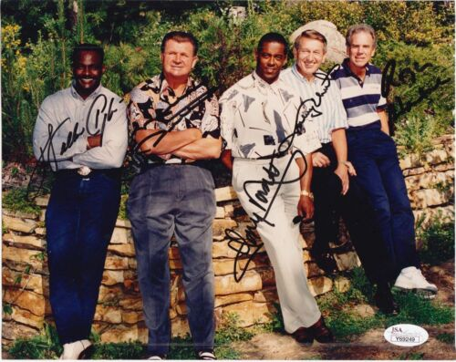 Walter Payton Johnny Unitas Dorsett Ditka Staubach Autographed Signed 8x10 Photo