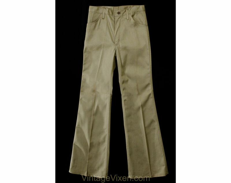 XS Mens 1970s Pant - Khaki Tan Trouser Can Be Unisex Ladies Size 2 - Wrangler