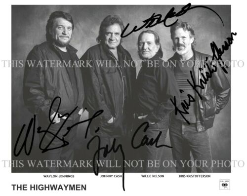 HIGHWAYMEN JOHNNY CASH WILLIE NELSON WAYLON JENNINGS KRISTOFFERSON SIGNED PHOTO