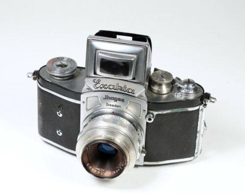 Kine Exakta v.4 1938 35mm SLR Film Camera with E Ludwig Meritar 2.9/50 Lens