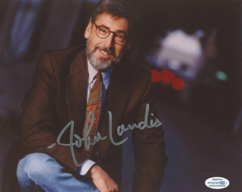 JOHN LANDIS SIGNED 8X10 PHOTO 2 ACOA